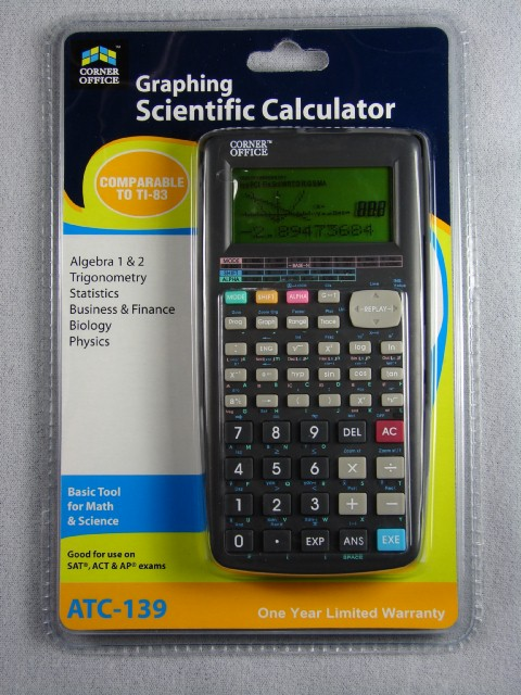 Ti 83 Calculator. Both the ATC-139 and TI-83 are